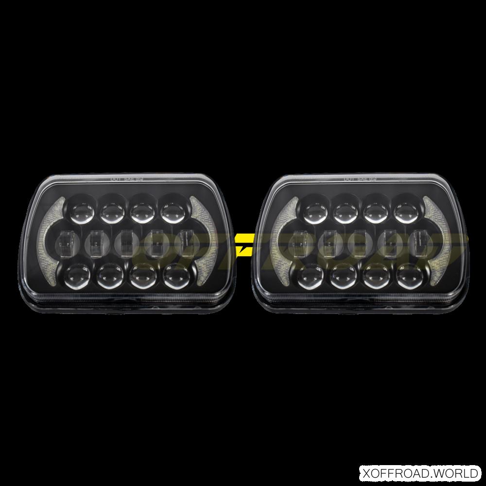 LED Frontscheinwerfer Set rechteckig