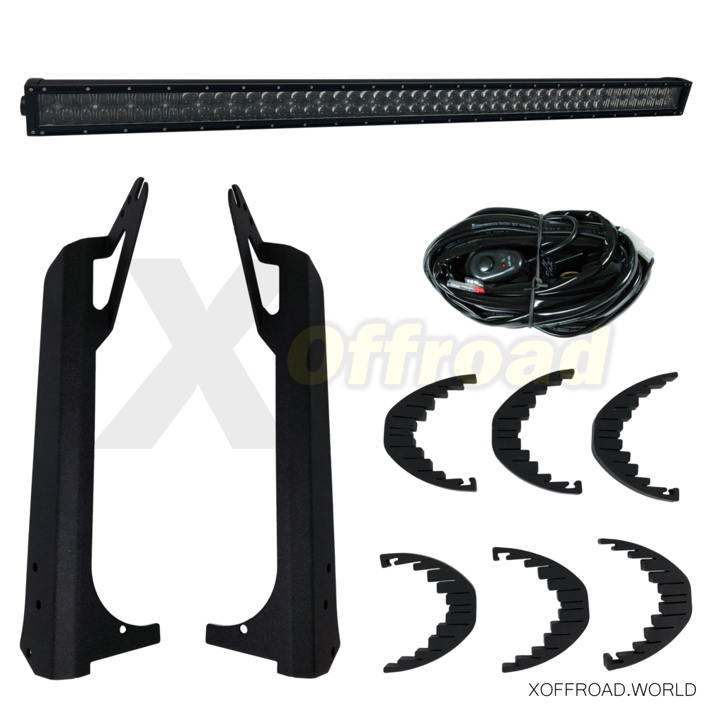 "LED Light Bar Set, Doppelreihig, 52"", 5D, Black Pearl"