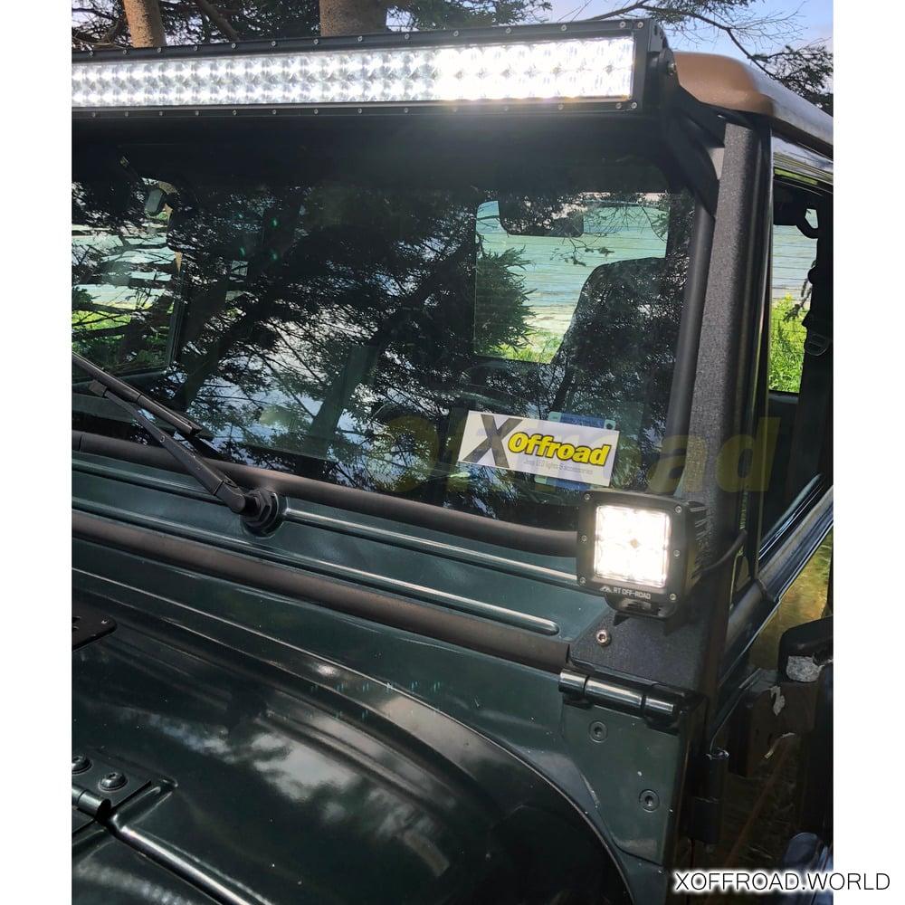 Led Light Bar Kit 50 Double Line Flood Working Lights 5d Jeep Door